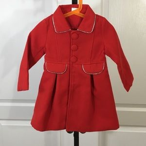 Other - Red pea coat (girls)